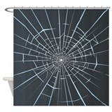 Broken Glass Shower Curtain