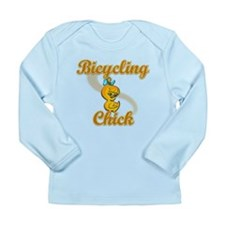 Bicycling Chick #2 Long Sleeve Infant T-Shirt