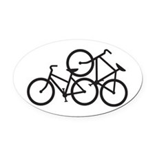 Bike Love Oval Car Magnet