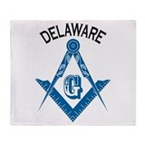Delaware Freemason Throw Blanket