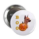 Halloween Min Pin Boo Button
