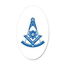 Past Master Oval Car Magnet