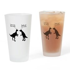 T Rex I Love You This Much Drinking Glass