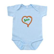 i love boo heart Infant Bodysuit