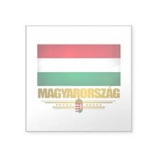 "Hungary (Flag 10).png Square Sticker 3"" x 3"""