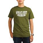 World's Best Pop Pop Organic Men's T-Shirt (dark)