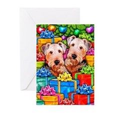 Airedale Terrier Christmas Greeting Cards (Pk of 1