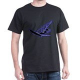 Kokopelli Windsurfer Black T-Shirt