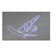 Kokopelli Windsurfer Rectangle Decal