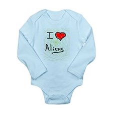 i love spooky aliens Long Sleeve Infant Bodysuit