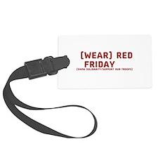 Wear Red Friday Luggage Tag