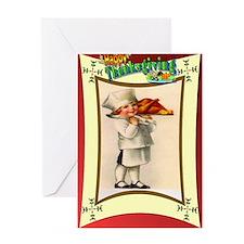 Turkey chef Greeting Card