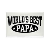 World's Best Papa Rectangle Magnet