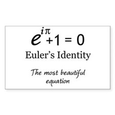 Beautiful Eulers Identity Decal