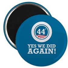 "Obama Yes We Did AGAIN 2.25"" Magnet (10 pack)"