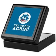 Obama Yes We Did AGAIN Keepsake Box