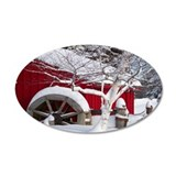 Snow Covered Wheelmill Wall Decal