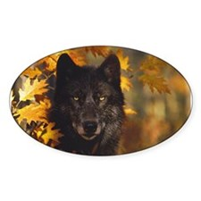 """Black Wolf"" Rectangle Decal"