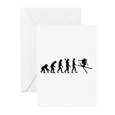 Evolution Ski Greeting Cards (Pk of 10)