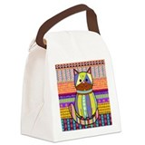 Crazy Cat Canvas Lunch Bag