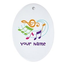 Personalized Music Swirl Ornament (Oval)