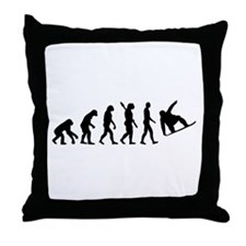 Evolution Snowboard Throw Pillow