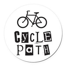 Cycle Path Round Car Magnet