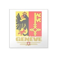 "Geneva (Flag 10).png Square Sticker 3"" x 3"""