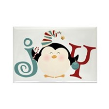 Christmas Penguin Joy Rectangle Magnet