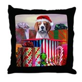Beagle Claus Christmas Throw Pillow
