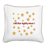 Agility Mom Square Canvas Pillow