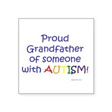 "Cute Autism love Square Sticker 3"" x 3"""