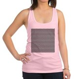 Black White Chevron Racerback Tank Top