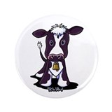 "Holstein Cow 3.5"" Button"