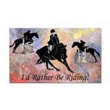Id Rather Be Riding! Horse Rectangle Car Magnet