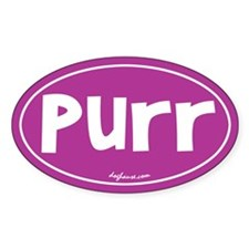 Purr Oval Decal