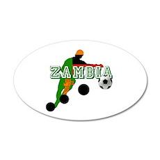 Zambian Football Player 35x21 Oval Wall Decal