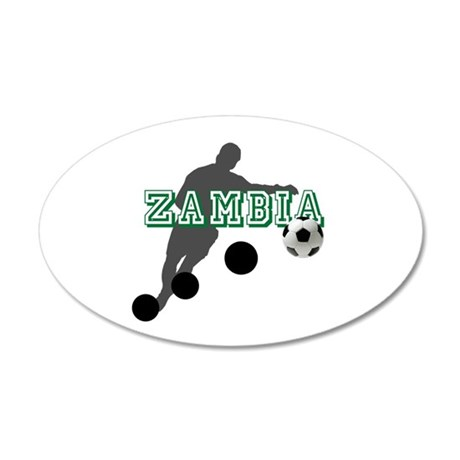 Zambian Soccer Player 35x21 Oval Wall Decal