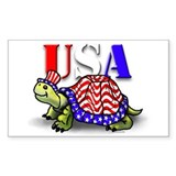 USA Turtle Rectangle Decal