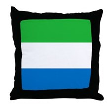 Flag of Sierre Leone Throw Pillow