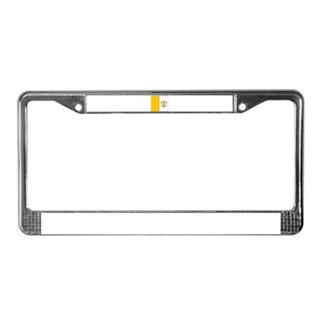 Vatican City Blank Flag License Plate Frame