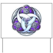 Celtic Triple Crescents - Purple Yard Sign