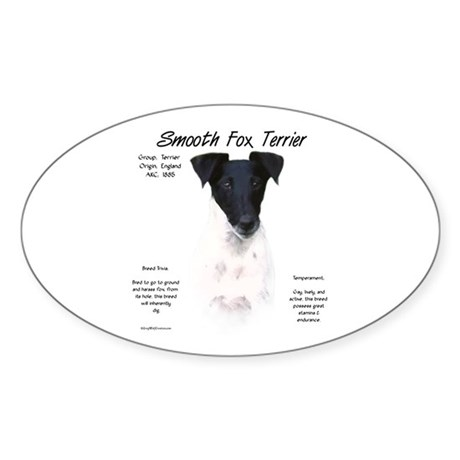 Smooth Fox Terrier Oval Sticker