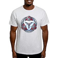 Celtic Triple Crescents - Red T-Shirt