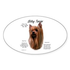 Silky Terrier Oval Decal