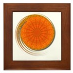 Mexican Aztec Swirl Mexico Art Framed Tile