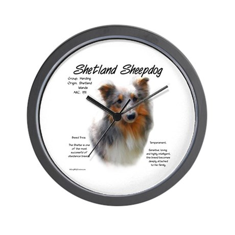 Shetland Sheepdog Wall Clock