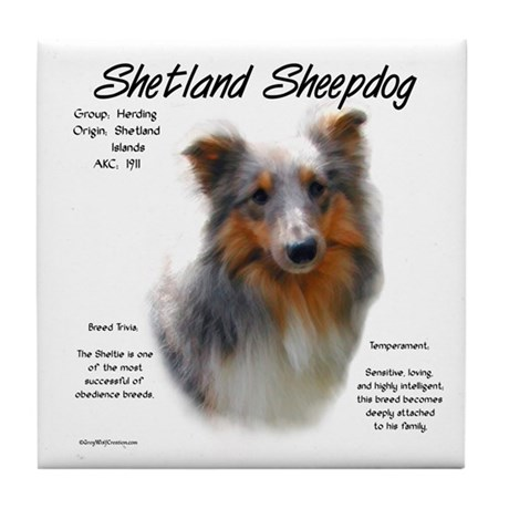 Shetland Sheepdog Tile Coaster