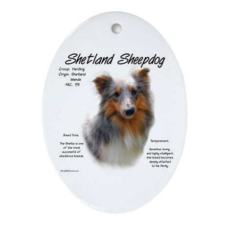Shetland Sheepdog Oval Ornament