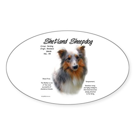 Shetland Sheepdog Oval Sticker